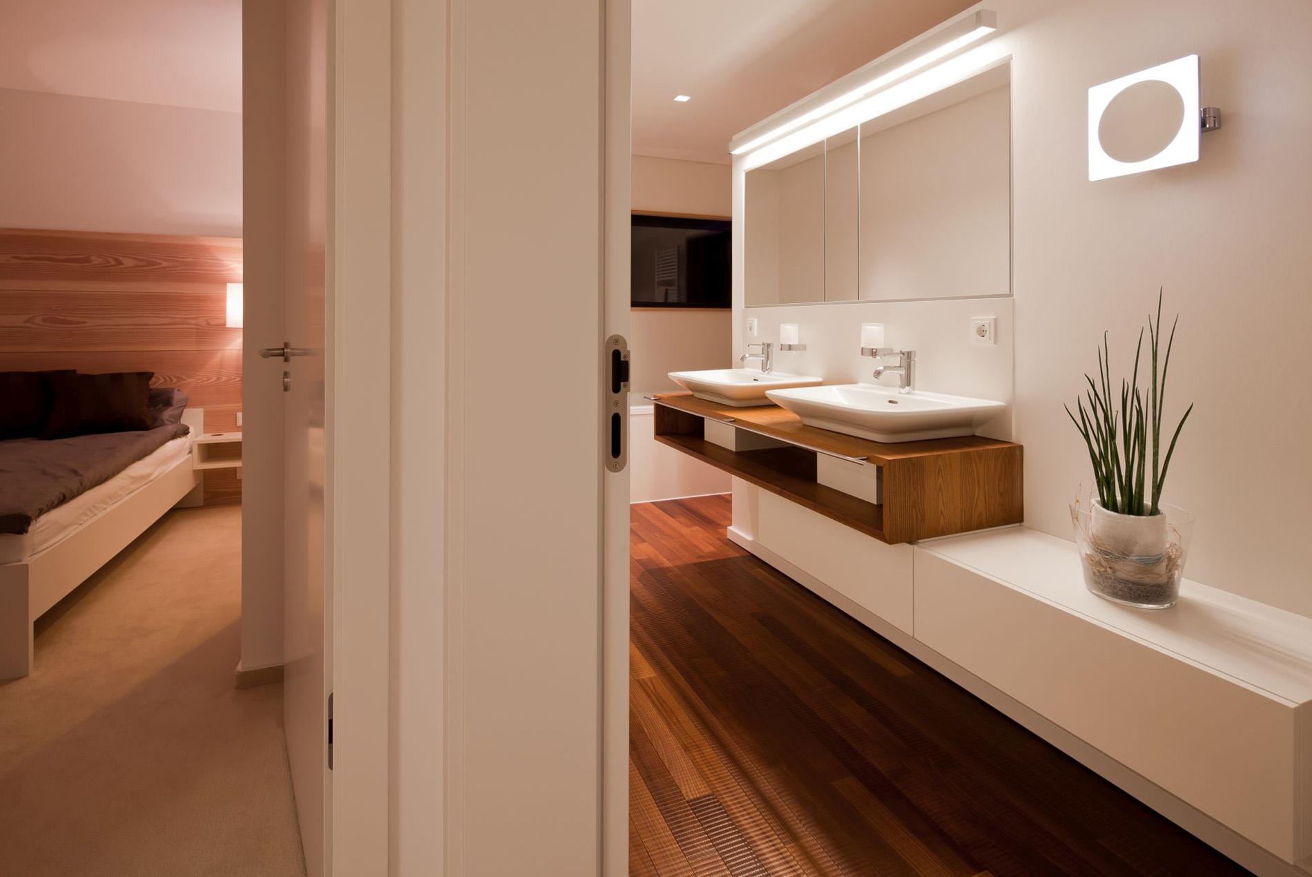Holzboden Im Badezimmer Bad Ensuite Tischlerei Schopker