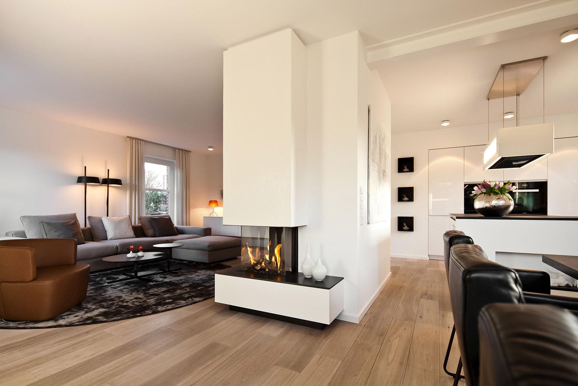 tv kamin kombination im wohnzimmer tischlerei sch pker. Black Bedroom Furniture Sets. Home Design Ideas