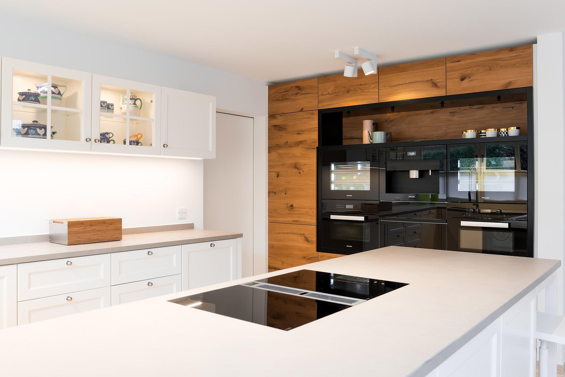 offene landhaus k che modern und zeitlos tischlerei sch pker. Black Bedroom Furniture Sets. Home Design Ideas